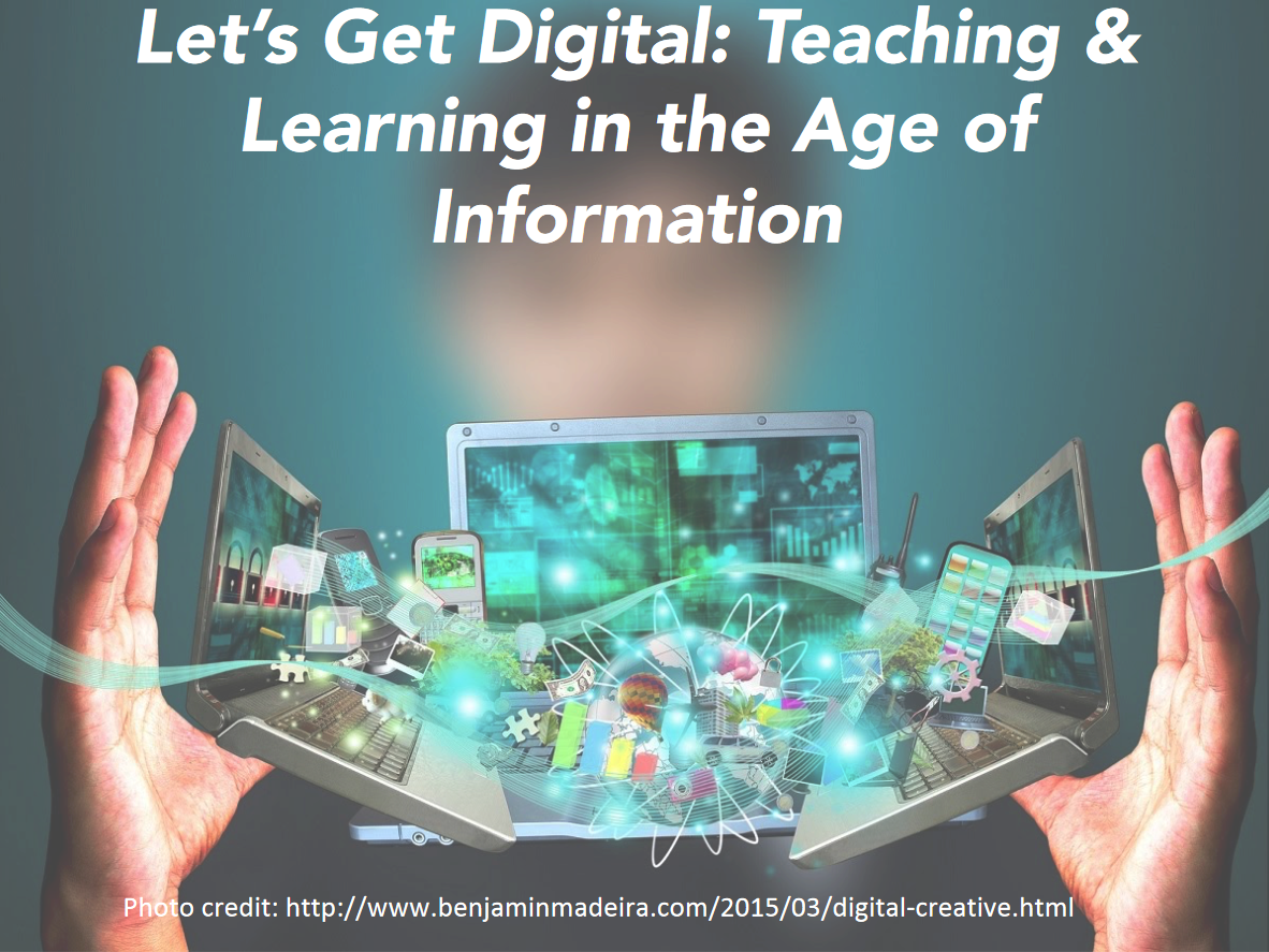 Let's Get Digital: Teaching & Learning in the Age of Information, decorative graphic